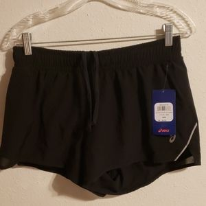 Womens Asics Woven Shorts w/Liner Medium Black